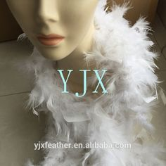 chinese supplier Cheap White Turkey Feather Boa chandelle boas for birthday wedding party decorations 40g