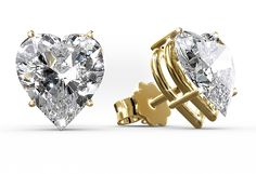 So cute! Earrings Silici with heart shaped diamonds and a gold setting. #Herbst #Diamantschmuck #Yorxs