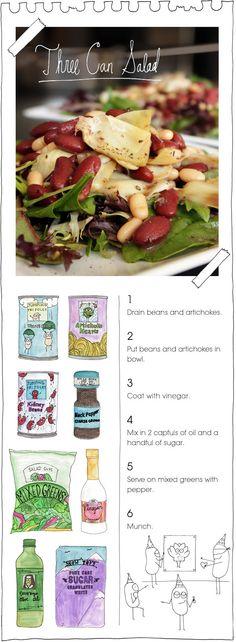 The Vegan Stoner's Three Can Salad
