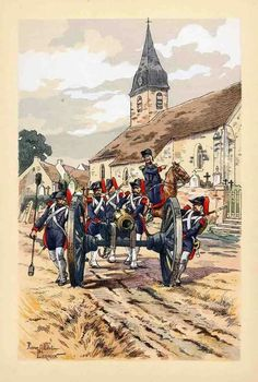 French artillery, ca. 1799.