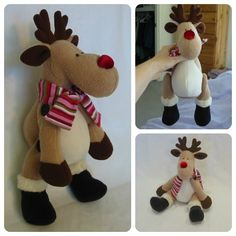 How to make Reggie Reindeer without button joints! / SEE THE SITE