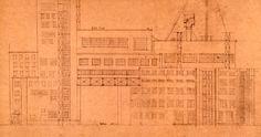 Alexandre Vesnine, Le Palais du travail, 1922, projet