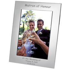 Engraved Matron of Honour Silver Plated Photo Frame - 7x5  from Personalised Gifts Shop - ONLY £17.95