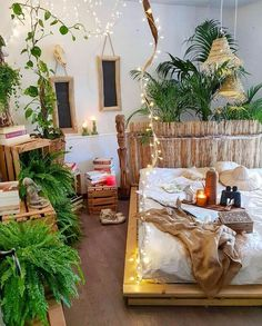 Home Bedroom Living room Furniture Design Couch Interior design Tree Boho Chic Interior, Bohemian Bedroom Design, Bohemian Decor, Modern Bohemian, Bohemian Style, Bohemian Bedrooms, Bohemian Furniture, Gypsy Style, Dark Bohemian