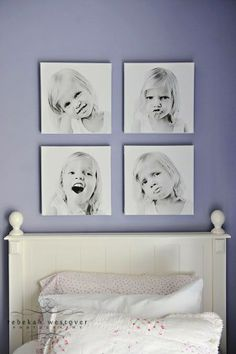 Love this for a kids room! by pauline Love this for a kids room! by pauline Love this for a kids roo Large Photo Prints, Photowall Ideas, Square Canvas, Square Photos, Big Girl Rooms, Photo Canvas, Canvas Photos, Photo Displays, Display Photos