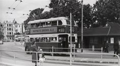 Number 46 trolley bus at the Old Steine 1956