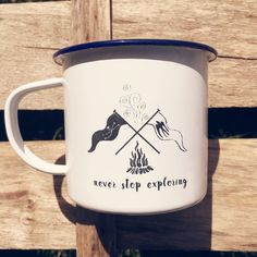 Swallows and Amazons Campfire Flags  Etched Enamel Mug by JagoIllustration on Etsy