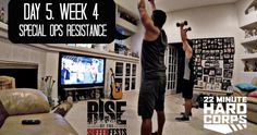 Day 5, Week 4 - 22 Minute Hard Corps Challenge   Special Ops Resistance   Arnel Banawa