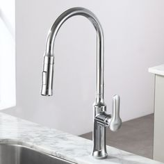 Kraus Oletto Single Lever Pull Down Kitchen Faucet Reviews - Wayfair kitchen faucets