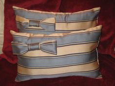 Two Big Bow Decorative Pillows Free Shipping by PrettyPlushPillows, $40.00