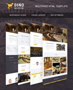 Paleontology Museum Website HTML Template