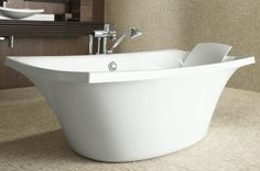 Thin is a result of precision and attention to detail that captures an individual's personality. Japanese Soaking Tubs, Japanese Bath, Kohler Bathtub, Sink Faucets, Relaxing Bathroom, Luxury Living, Bathroom Accessories, Modern Bathroom, Bing Images