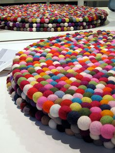 DIY Felt Ball Rugs