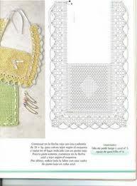 Resultado de imagen para babero en crochet