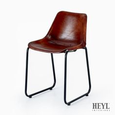 Vintage Retro Industrial Leather Bucket Chairs - Dining/Restaurant Limited stock
