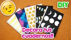 DIY | 5 Formas para Forrar y decorar tus Cuadernos!! + Blooper | FÁCIL |... Cool Notebooks, Journals, Pink Outfits, Ideas Para, Bullet Journal, School, Diys, Youtube, Inspire