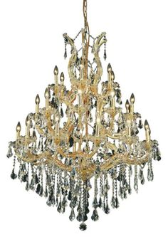 Elegant Lighting 2801D38G Maria Theresa 28 Light Three Tier Crystal  Chandelier Swarovski Elements Clear