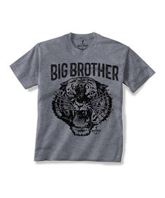 This Gray 'Big Brother' Tiger Tee - Toddler & Boys is perfect! #zulilyfinds