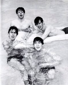 Beatles in the pool