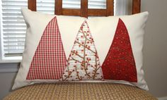 Christmas Tree Pillow Decorative Holiday Christmas by HomeLiving