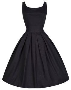 Lindy Bop 'Lana' Vintage 1950's Inspired Black Rockabilly Swing Dress * PLUS SIZE THRU 5X *