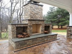 Outdoor Pavilion With Fireplace 5 Outdoor Wood Burning Fireplace, Outdoor Fireplace Patio, Outdoor Stone Fireplaces, Outside Fireplace, Outdoor Fireplace Designs, Fireplace Ideas, Fireplace Modern, Backyard Pavilion, Outdoor Pavilion