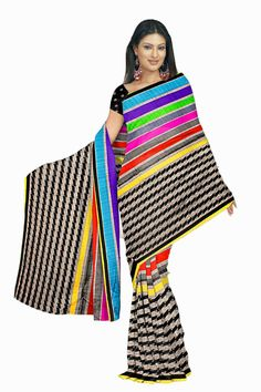 Designer Partywear Indian Saree Pakistani Ethnic Bollywood Sari Wedding…