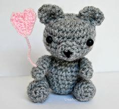 free crochet pattern for a tiny teddy bear, thanks so xox