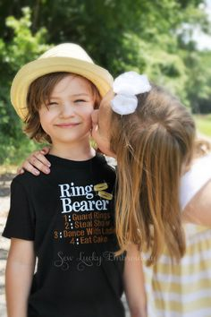 This Ring Bearer embroidered shirt is perfect gift for that special little boy in your wedding party! Wedding colors different than in the