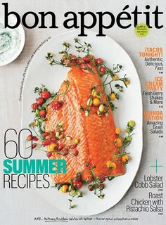 Bon Appetit (Magazine)By Conde Nast Publications - Recipes Salmon Dishes, Fish Dishes, Seafood Dishes, Seafood Recipes, Restaurant Dishes, Bon Appetit, Couscous Recipes, Summer Salad Recipes, Gourmet