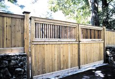 """14' wide — 72"""" Darien driveway gate #fence #fencing #yard #backyard #outdoor #home #house #landscape #landscaping"""