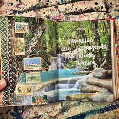 Art journal pages by Jenndalyn Art