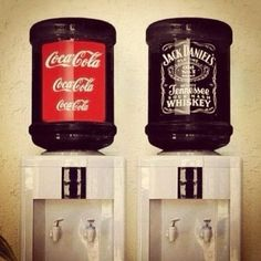 For big events, use water coolers as drink dispensers! i like this idea to save money on alcohol!!!