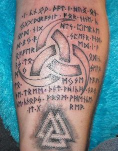 "Odin's Rune Song, from the Poetic Edda. Tattooed, T.J.'s Odin's Horns Tattoo.. ""Know that I hung on Yggdrasil for nine cold nights pieced by a spear and offered I was to Odin myself, to myself, on ne [sic] tree that which no one knows from whence it grew"""