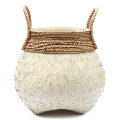 Bazar Bizar From the moment you put your hands on this beautiful Belly Wicker Basket you just know it's something special. Handmade and crafted with natural products these items will elevate your room. Bamboo Basket, Rattan Basket, Plastic Baskets, Large Baskets, Basket Weaving, Hand Weaving, Belly Basket, Vintage Storage, Storage Baskets