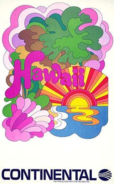 Continental Airlines Poster For Hawaii