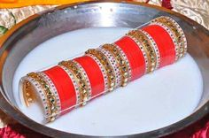 We are Manufactured Very Soft quality Chura never put rashes in On Hand on the time of wearing. It Is Designed To Be Comfortable And Has a skin Friendly Design. Wedding Chura, Wedding Wear, Wedding Engagement, Dream Wedding, Indian Bride Dresses, Indian Bridal Outfits, Bridal Bangles, Wedding Jewelry, Chuda Bangles