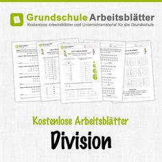 Kostenlose Arbeitsblätter und Unterrichtsmaterial zum Thema Division im Mathe-Unterricht in der Grundschule.