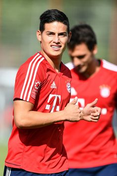 James Rodriguez of FC Bayern Muenchen runs during a training session at Saebener Strasse training ground on July 12, 2017 in Munich, Germany.