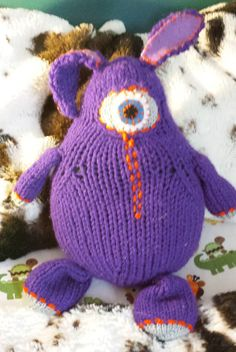 Blinky a unique hand made plush cycloptic rabbit more silly than scary. by FrankenSkeinNeedlWrx on Etsy Knitted Hats, Crochet Hats, Top Stitching, Color Combinations, Hand Knitting, Scary, Rabbit, Winter Hats, Plush