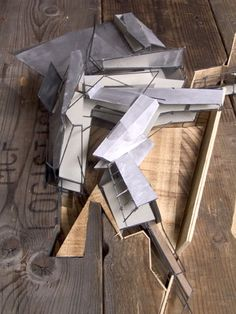 Top view of the model showing the fragmentary roof plan. - Sebastiaan Hermans