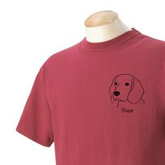 Beagle Garment Dyed Cotton Tshirt by WryToastDesigns on Etsy, $19.99