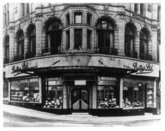 Bettys Leeds - the third Bettys. It was located at the corner of Commercial Street and Lands Lane. No longer there which is a shame! Bettys Harrogate, Commercial Street, Great British, Bradford, Leeds, Over The Years, Beautiful Places, Street View, Journey