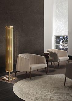 matheny stilnovo geometric golden tubes floor lamp