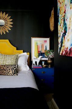 Kimberly Duran is the self-confessed 'unashamed maximalist' behind the award-winning interior design blog, Swoon Worthy. She describes her style as 'Eclectic Boho Glam' with gold luxe finishes, cheeky animal prints, textural fabrics, bold pattern mixing, a touch of vintage and bohemian-style comfort. She gives us a sneak peek inside her colourful home and reveals her game-changing interiors hacks, her DIY bathroom, her favourite IKEA hack, and how to create an Art Deco interior.