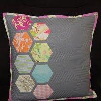 Modern hexagon quilted pillow tutorial