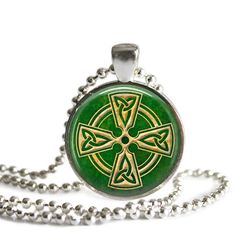 Knotwork Cross, Photo Pendant, Silver Necklace