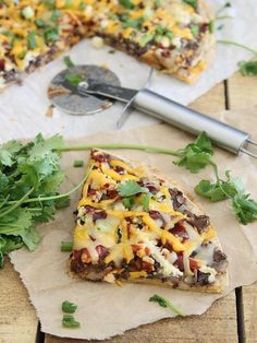 BBQ Chicken and Black Bean Quesadilla Pizza