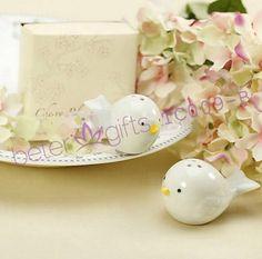 600pcs = 300box (2pcs / boîte) Love Birds Salt and Pepper Shaker souvenirs de mariage BETER-TC009