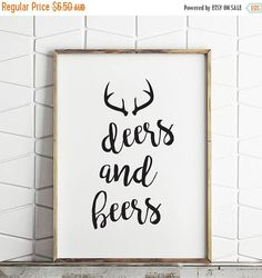 80% OFF hunting sign beer sign man cave sign fathers day